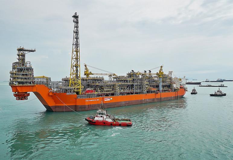 O navio-plataforma FPSO Pioneiro, que a Petrobras comprou para o campo de pré-sal de Libra. (Foto: Divulgação)