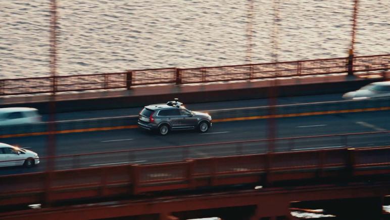 O XC90, veículo autônomo da Volvo testado pela Uber em São Francisco (EUA). (Foto: Divulgação)
